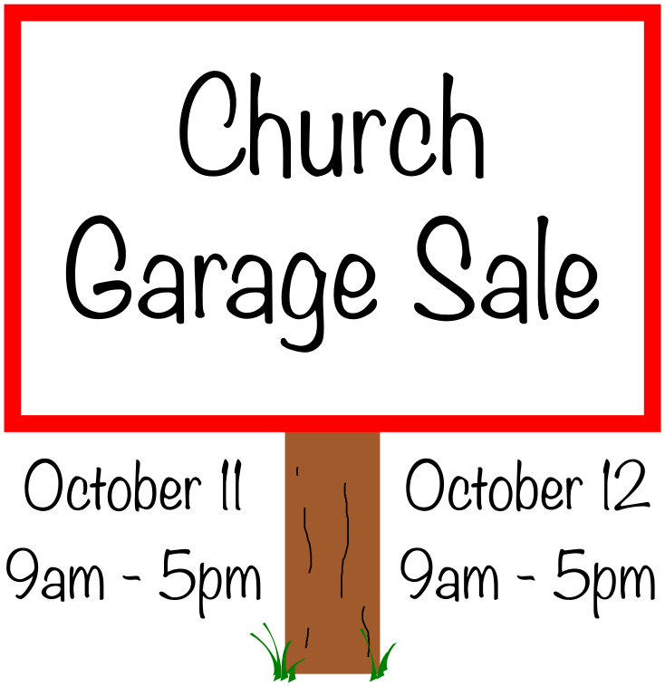 Garage Sale – Christ's Community Church
